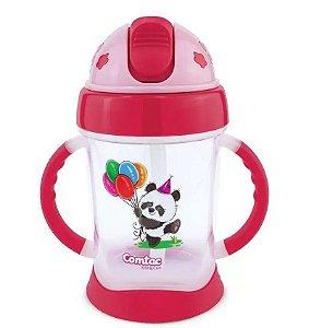 Copo de Treinamento Happy Panda 250ml (+9M) - Vermelho - Comtac Kids
