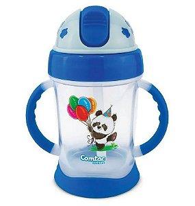Copo de Treinamento Happy Panda 250ml (+9M) - Azul - Comtac Kids