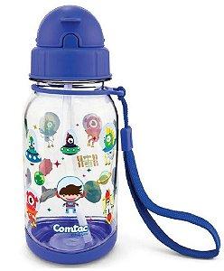 Copo com Canudo Tritan Borboleta 400ml (+18M) - Azul - Comtac Kids
