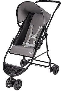 Carrinho de Bebê Yano (até 15 kg) - Preto e Cinza - Tutti Baby