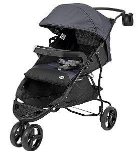 Carrinho de Bebê Evo (até 15 kg) - Preto e Cinza - Tutti Baby