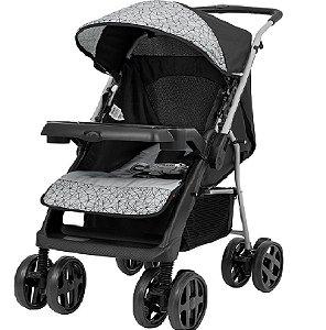 Carrinho de Bebê Joy (até 15 kg) - Preto e Cinza - Tutti Baby