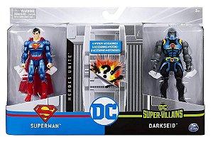 Bonecos DC Comics 10cm (+3 anos) - Superman e Darkseid - Sunny Brinquedos