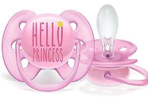 Chupeta Ultra Soft Decorada Princess (6-18m) - Philips Avent