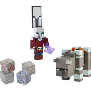 Boneco Minecraft Capitão De Ataque E Saqueador - Mattel