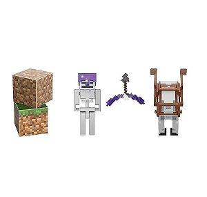 Boneco Minecraft Batalha Do Cavaleiro Esqueleto (6+) Mattel