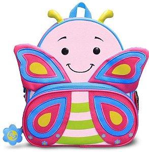 Mochila Infantil Lets Go Borboleta - Comtac Kids