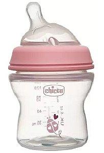 Mamadeira Step Up 150ml Fluxo Inicial Rosa (0m+) - Chicco