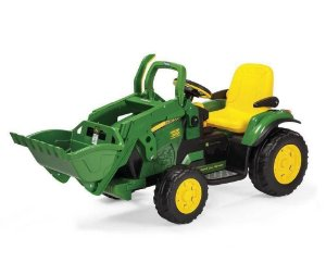Carro Elétrico Trator John Deere Ground Loader Peg Perego