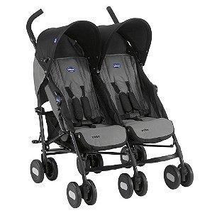 Carrinho de Bebê para Gêmeos Echo Twin (até 15 kg) - Black Coal - Chicco
