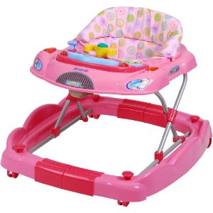 Andador e Centro de Atividades Baby Coupé (+6M) - Rosa - Burigotto
