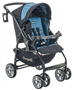 Carrinho De Bebê At6 K - Preto Azul - Burigotto
