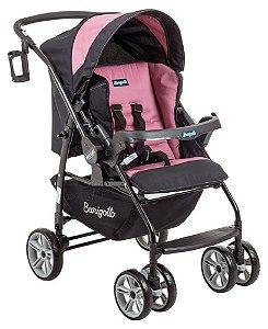 Carrinho De Bebê At6 K - Preto Rosa - Burigotto