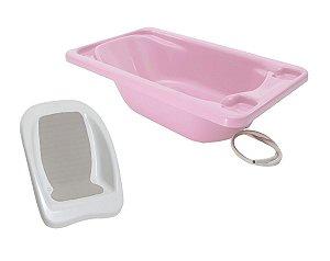 Conjunto de Banheira Com Assento (até 20 kg) - Rosa - Galzerano