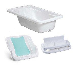 Conjunto de Banheira com Assento e Saboneteira (até 20 kg) - Branco - Burigotto