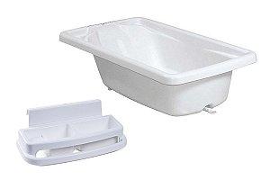 Conjunto de Banheira com Saboneteira (até 20 kg) - Branco - Burigotto