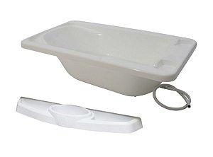 Conjunto de Banheira Com Saboneteira (até 20 kg) - Branco - Galzerano