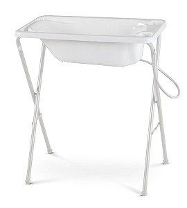 Banheira para Bebê Plástica com Suporte - Galzerano - Branco