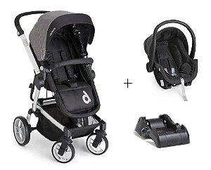 Carrinho De Bebê Zolly com Bebê Conforto e Base - Preto - Dzieco