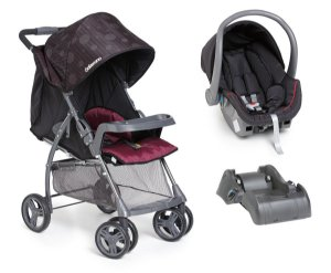 Carrinho De Bebê San Remo com Bebê Conforto e Base - Preto - Galzerano