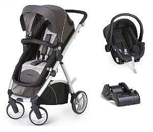 Carrinho De Bebê Maly com Bebê Conforto e Base - Preto - Dzieco