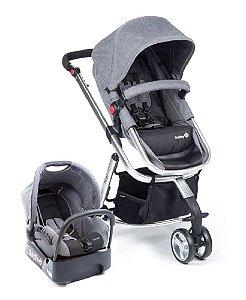 Carrinho de Bebê Travel System Mobi - Grey Denim Silver - Safety 1st