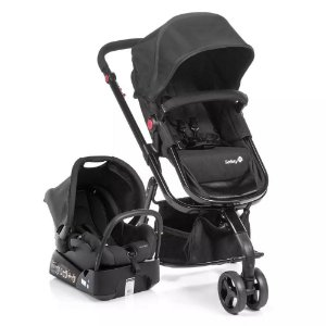 Carrinho de Bebê Travel System Mobi - Full Black - Safety 1st
