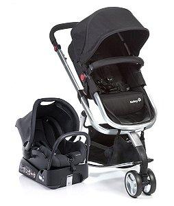 Carrinho de Bebê Travel System Mobi - Black And Silver - Safety 1st