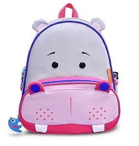 Mochila Infantil Let's Go - Hipopotamo - Comtac Kids