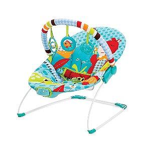 Cadeira De Descanso Vibratória Azul Urso - Mastela