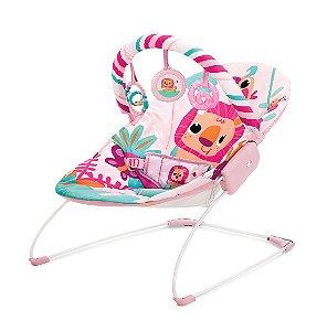 Cadeira de Descanso Musical Vibratória Rosa Selva - Mastela