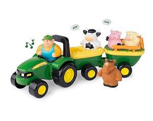 Trator e Animais com Som - Hay Ride John Deere - Peg-Pérego