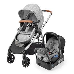 Carrinho de Bebê Travel System Anna com Base (até 15 kg) - Normad Grey - Maxi.Cosi