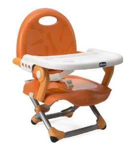 Cadeira de Alimentação Pocket Snack Portátil (até 15 kg) - Mandarino - Chicco