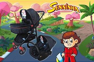 Carrinho Olympus e Bebê Conforto do Seninha - Galzerano