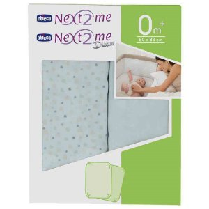 Kit 2 lençóis para berço Next2me Light Blue (0m+) Chicco