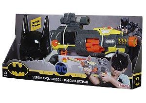 Super Lanca Dardos e Mascara Batman - Brinquedos Rosita