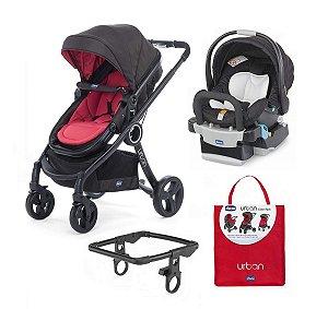 Conjunto de Carinho de Bebê, Bebê Conforto com Base, Color Pack e Adaptador - Red Passion - Chicco