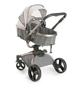 Carrinho de Bebê Travel System Vulkan 360º (até 15 kg) - Cinza - Dzieco