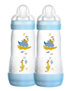 Mamadeiras Easy Start Dupla 320 ml (4 + meses) Azul - MAM