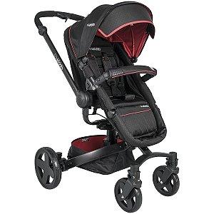 Carrinho de Bebê Spin 360º  Xadrez Vermelho - Kiddo