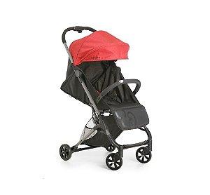 Carrinho de Bebê Duolee Preto e Vermelho - Galzerano