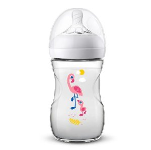 Mamadeira Pétala 260ml (+1M) - Flamingo  - Philips Avent