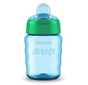 Copo Easy Sip com Bico de Silicone 260ml Azul Philips Avent