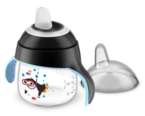 Copo Pinguim 200ml Preto (6m+) Philips Avent