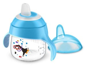 Copo Pinguim 200ml Azul (6m+) Philips Avent