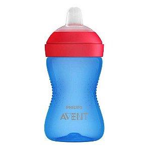 Copo com Bico Macio Azul e Vermelho 300ml Philips Avent