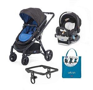Conjunto de Carinho de Bebê, Bebê Conforto com Base, Color Pack e Adaptador - Blue - Chicco
