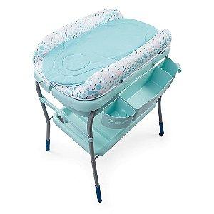 Banheira com Trocador Cuddle & Bubble Cool (até 11 kg) - Verde - Chicco