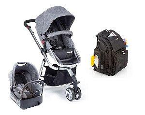 Conjunto de Carrinho de Bebê, Bebê Conforto com Base e Mochila - Cinza - Safety 1st